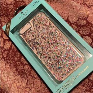 Kate Spade Clear Glitter Case iPhone 7/8 Plus Case